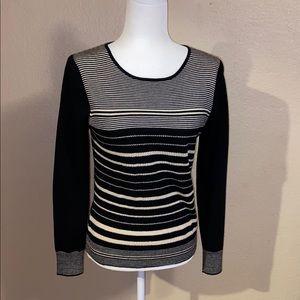 Ann Taylor Wool Striped Sweater